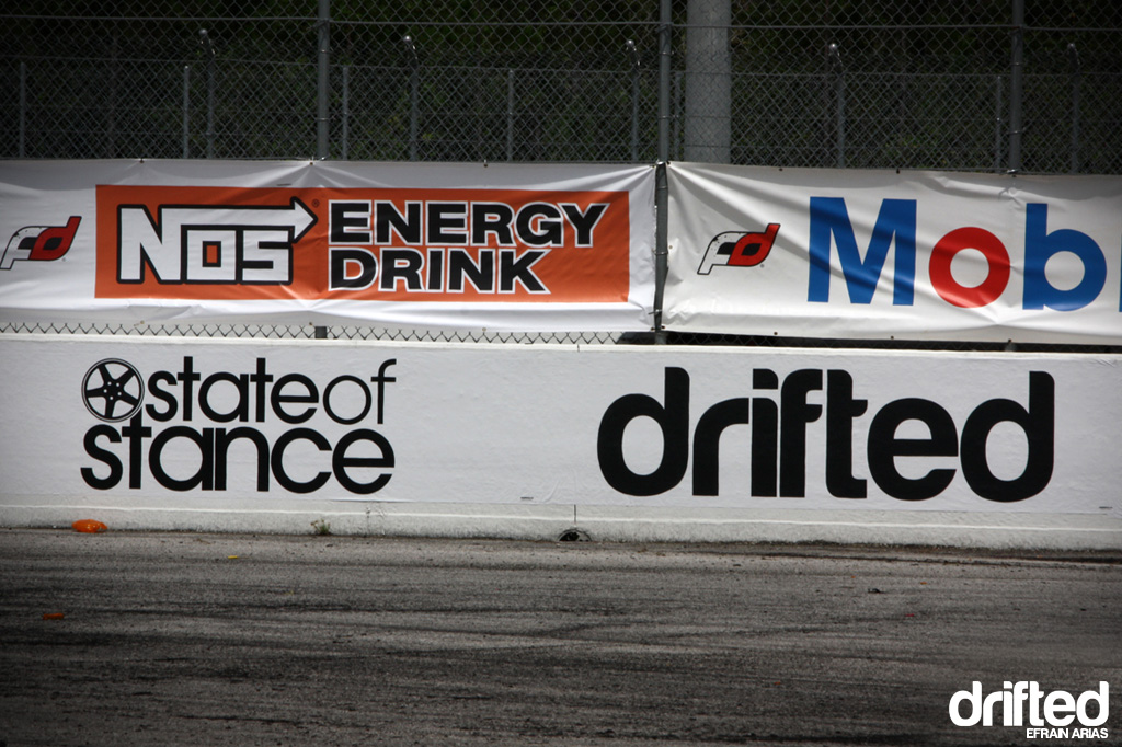 drifted track sign