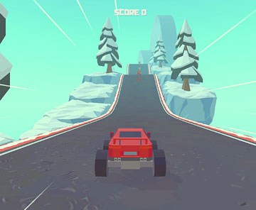 3D Monster Truck: Icy Roads