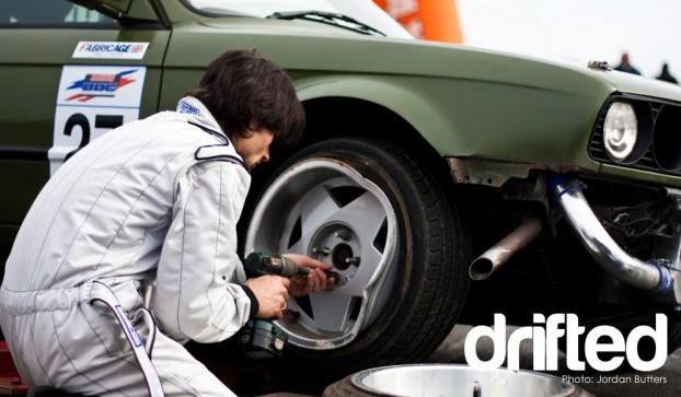 E30 Borbet damage drift crash