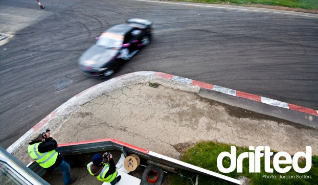 Drift corner apex Llandow