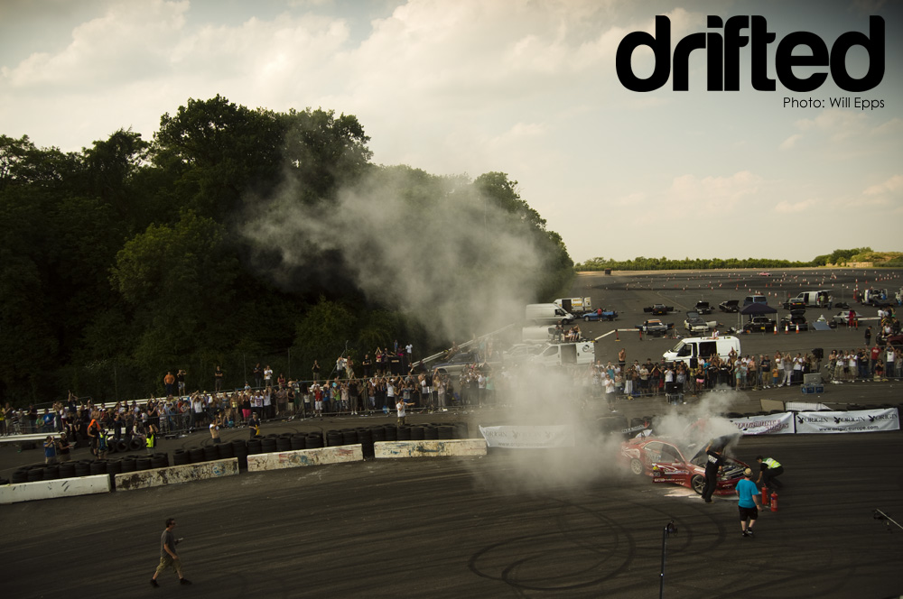 drift car fire