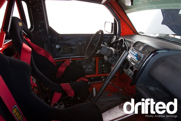 Inside the Honda Element Drift Car