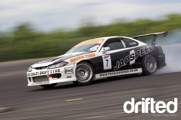 Danny Eyles drifting at Donny