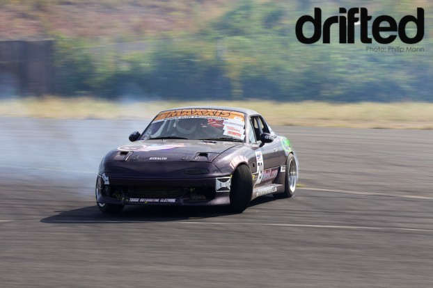 Jamie drifting his MX-5