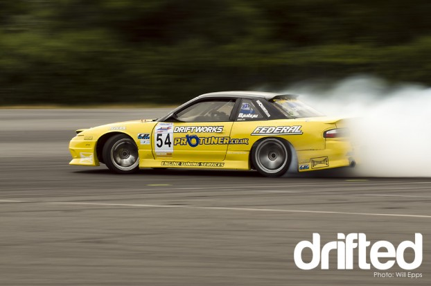 Greg Gush PS13 Donnington Park Launch Pad Drifting Driftworks Nissan 200sx Smoke