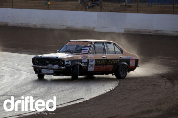 Mk2 escort slipping and sliding at BDC Weekender