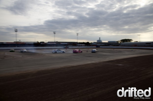 6 car drifting at Norfolk Arena