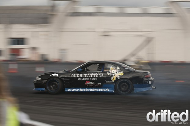 Brad McQueen Drifting Nissan s14 JDM Allstars