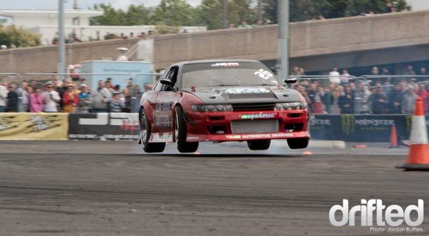 James Deane Formula D Jump air drifting
