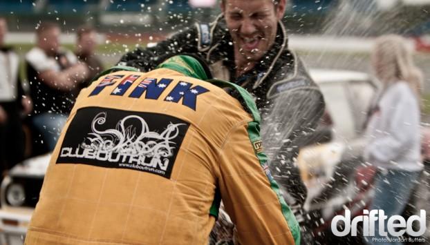 Winner champagne Drift champ