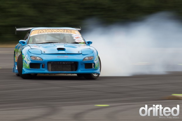 Phil Randell in his RX7 at Donny