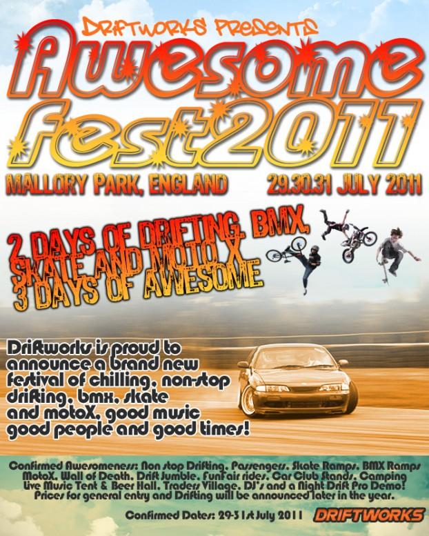 Awesomefest Drift Mallory Park