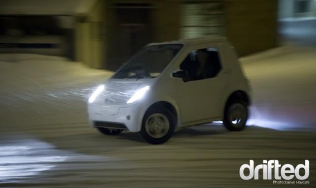electric car drifting