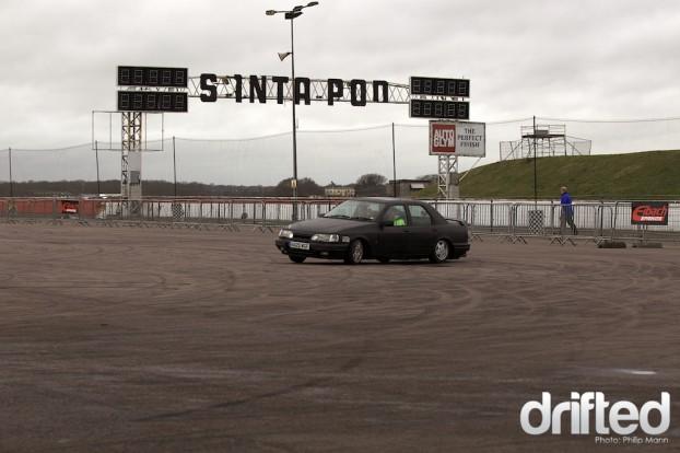 Ford Sierra at Santa Pod