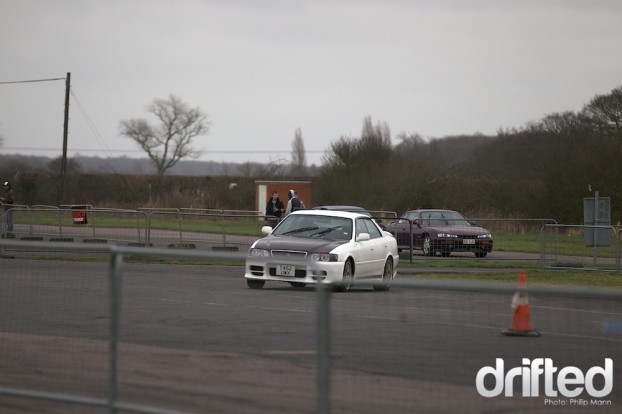 Toyota Chaser in the Playpens at Santa Pod