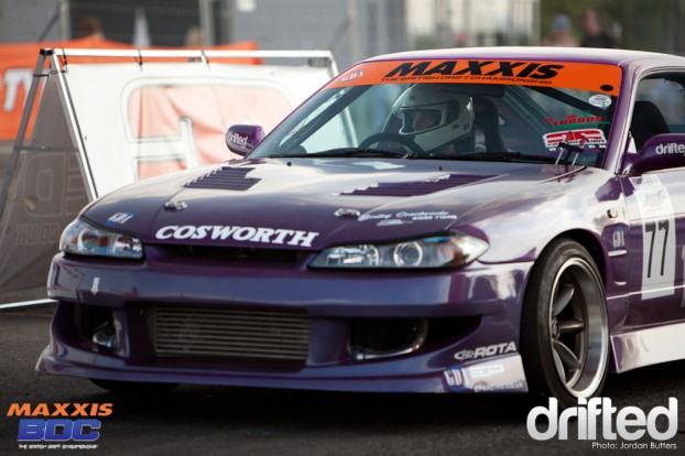 Purple S13 drift Grant Laker