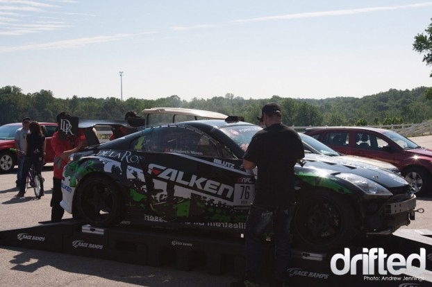 Kenny Moen's BK Racing Nissan 350Z Weights In