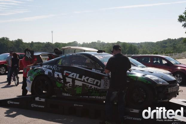 Kenny Moen's BK Racing Nissan 350Z Weights In