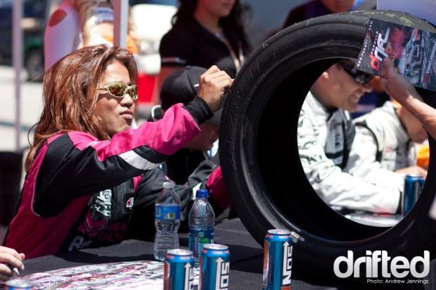 Taka Aono Tire Signing