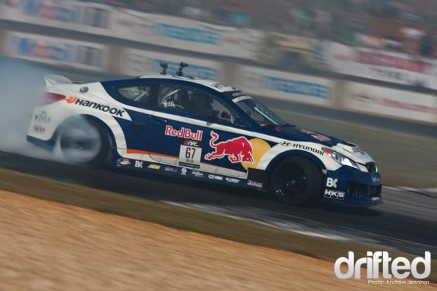 Rhys Millen Red Bull Hyundai Genesis Drift