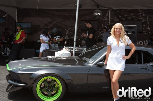 Courtney Day with Vaughn Gittin Jr.'s RTR-X