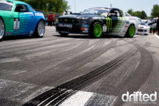 Formula Drift Grid Tire Marks