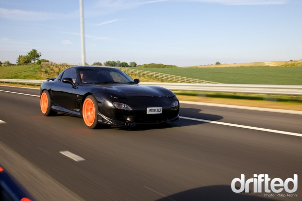 RX7 on the motorway
