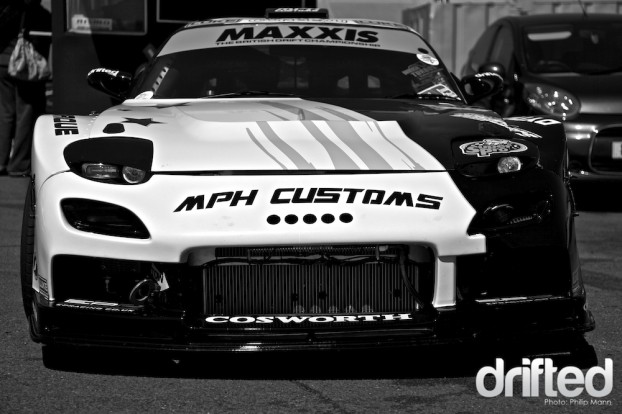 MPH Customs V8 RX7 at Santa Pod