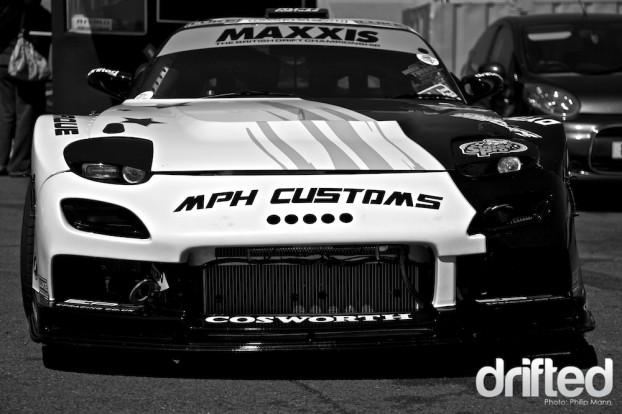 MPH Customs V8 RX7 at Santa Pod
