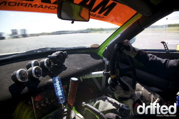 Passenger in the MPH Customs V8 RX7