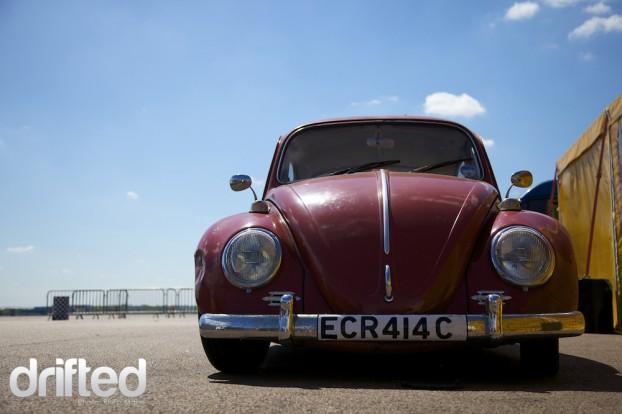 VW beetle at Santa pod DWYB