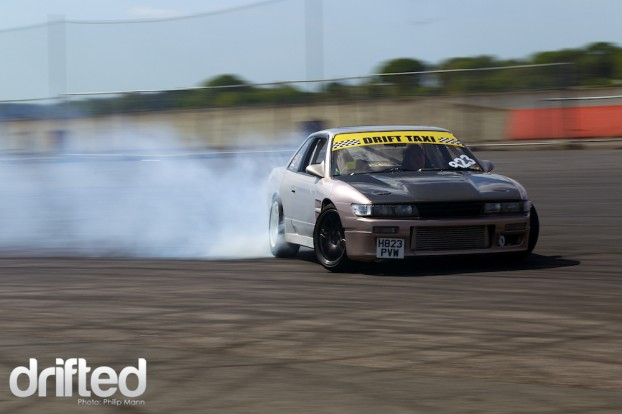 Nissan PS13 Drift taxi at Santa Pod DWYB