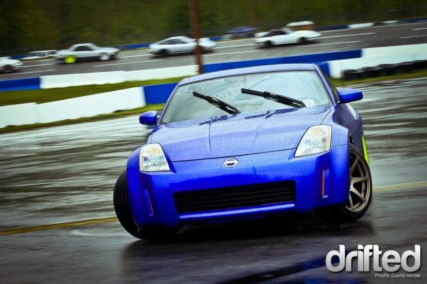 drifting, evergreen, speedway, track, car, drift, sport, Blue, 350Z