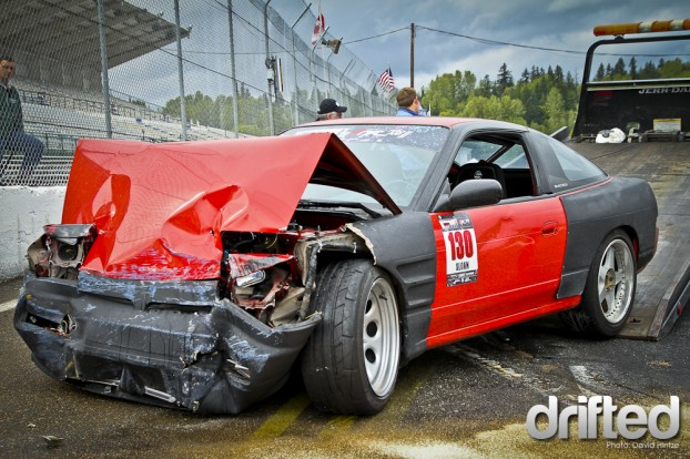 drifting | totaled bumper