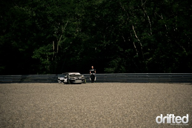 Nigel Colfer showed really good drifting, but coudn´t compete after this ride