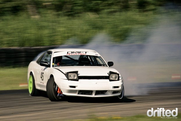 Winner of my personal most angle award: S13 with 1JZ, with a very aggressive style to do the entrys