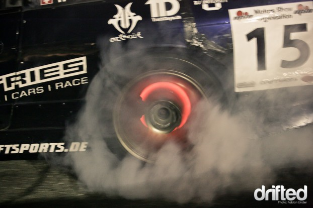 Team Speed Industries mastermind Tobias Welti brought his brakediscs to glow