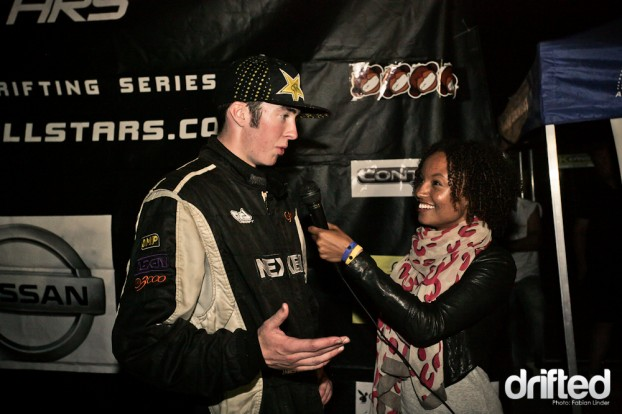 After the champaign shower, James Deane gave his first interviews