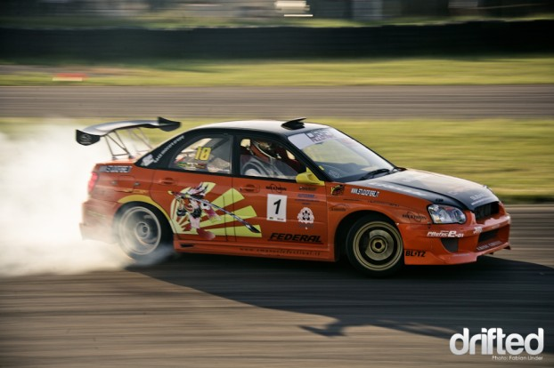 Emmanuelle Festival (I) bought a former Team Orange Subaru and performed quite well in it