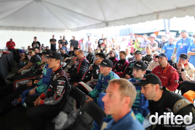 Formula Drift Rd 4 Drivers Meeting