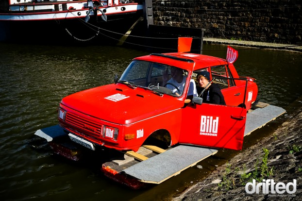 A strange car-boat