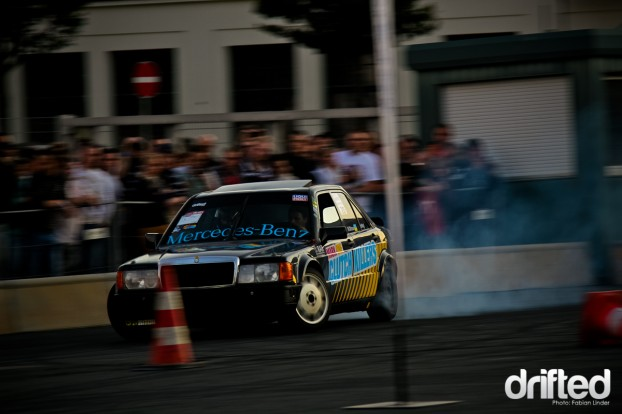 Mark did the start in his Mercedes 190E