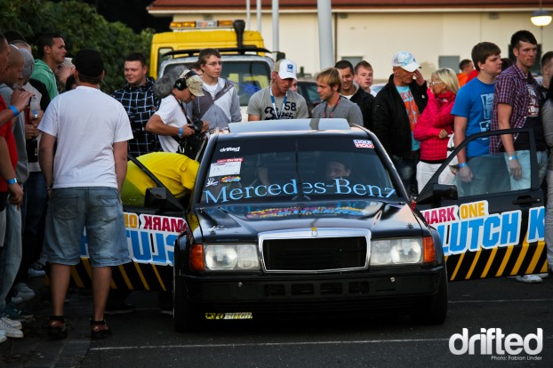 Dozens of people bought a ride in the drifttaxi, even two german tv crews were around