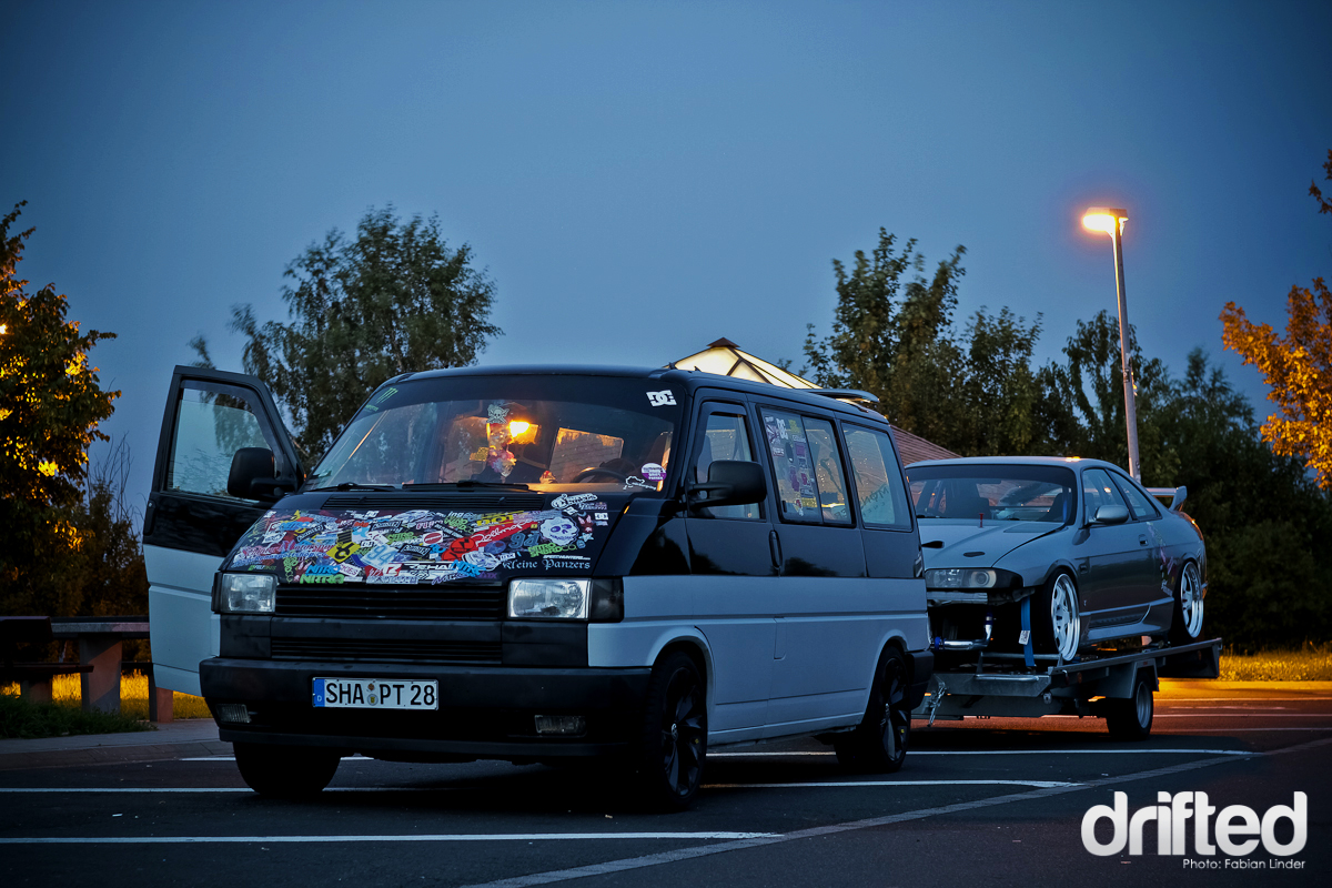 drift car van transport