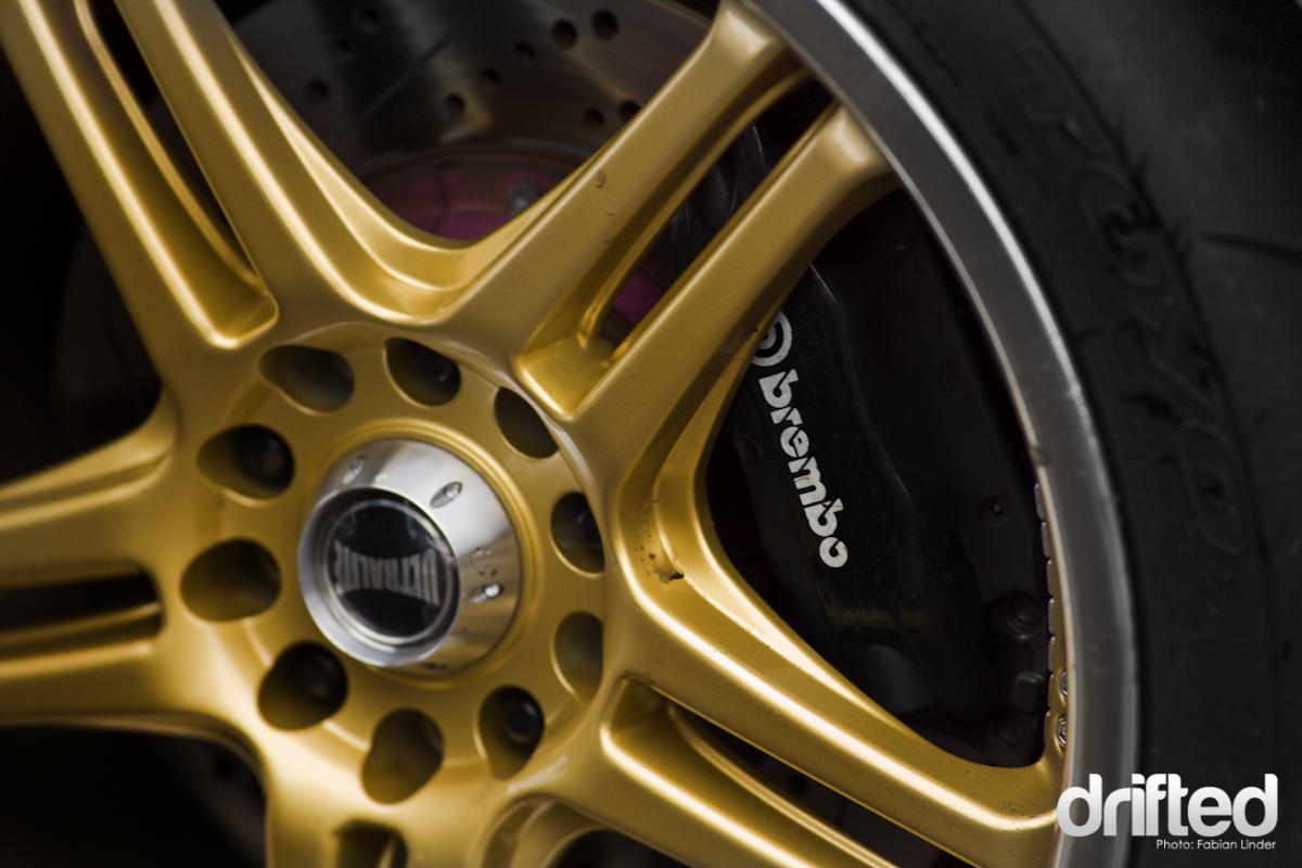 Ultralite rims with brembo brakes