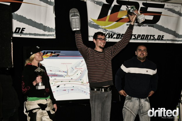 The street results: 3rd Matthias Dietz, 2nd Sara Hagemann, 1st Ronny Thimmig (in the middle)
