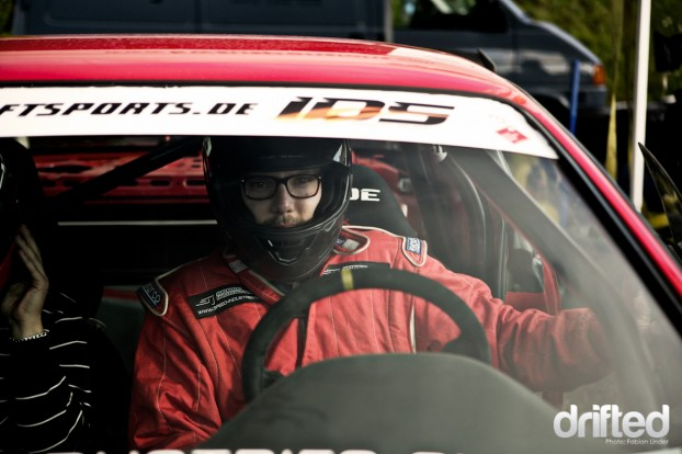 Back for god: Andrew Hirschy, driver at Speed Industries, was deeply impressed by the size of the Nürburgring, it´s buildings and the rollercoaster