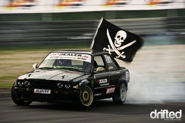 "Another Street driver: Matthias ""the pirat"" Dietz in his E30"