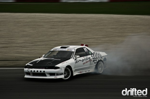 "Martin ""Pyramiden"" Phuramidi did a great show with his RB20 powered R32, but he killed the engine on friday"