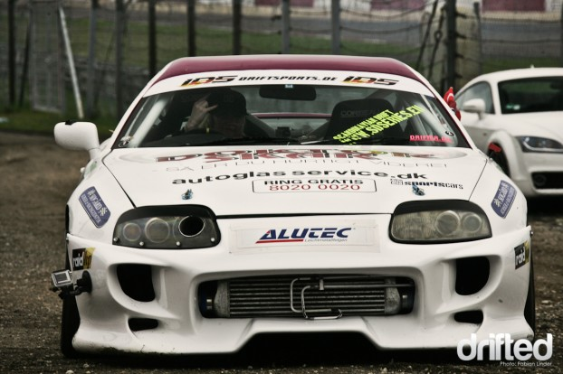 The danish drifter Sara Hagemann with her lovely MkIV Supra